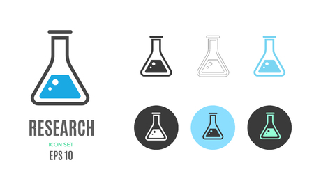 Vector research infographic template. Color chemical reaction icon, design for your illustration or presentation Standard-Bild - 115208823