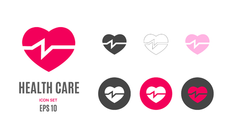 Vector health care infographic template. Color heart pulse icon sign, design for your illustration or medical clinic presentation Standard-Bild - 115208844