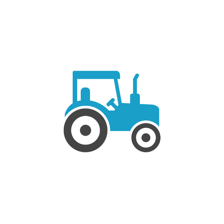 Vector agriculture infographic template. Color farming tractor icon design for your illustration or firm presentation Standard-Bild - 115208949