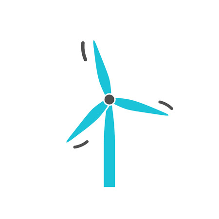 Vector renewable clean wind energy infographic template. Color windmill icon design for your illustration or firm presentation Standard-Bild - 115208950