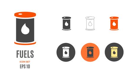 Vector crude oil infographic template. Color fuels icon sign design for your illustration or information presentation Standard-Bild - 115208959