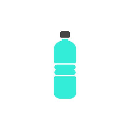 Vector plastic bottle infographic template. Color icon sign design for your illustration or information presentation Ilustração