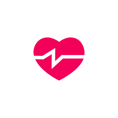 Vector health care infographic template. Color heart pulse icon sign, design for your illustration or medical clinic presentation Standard-Bild - 115208988