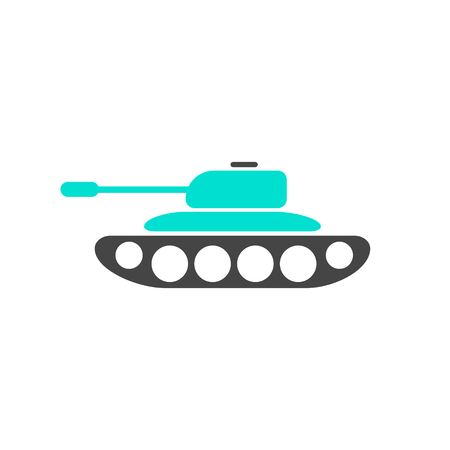 Vector military infographic template. Color tank icon sign, design for your illustration or army presentation Standard-Bild - 115209022