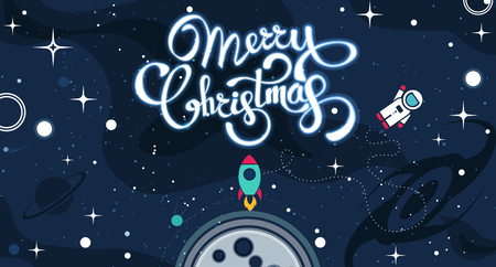 Christmas background greeting card. Vector color template with space illustration. Xmas holyday pattern ready for print Stockfoto - 127699944