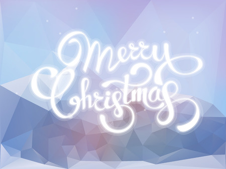 Christmas background greeting card. Vector color template with mountains and snow abstract illustration. Xmas holyday pattern ready for print Ilustração