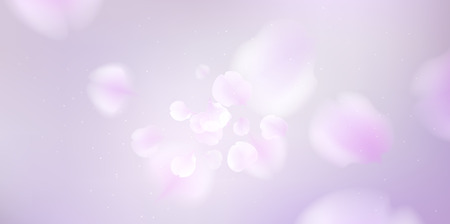 Floral background with soft pink lilac flower and petals vector illustration template Standard-Bild - 122558952