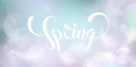 Soft spring background with purple blurred flower petals and feathers vector illustration Standard-Bild - 122558960