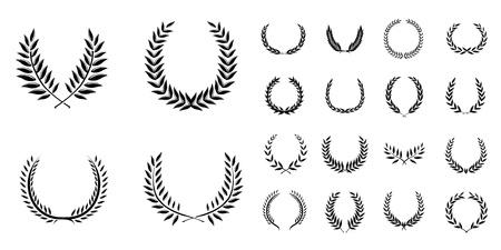 laurels: Wreath Set Vector  Illustration