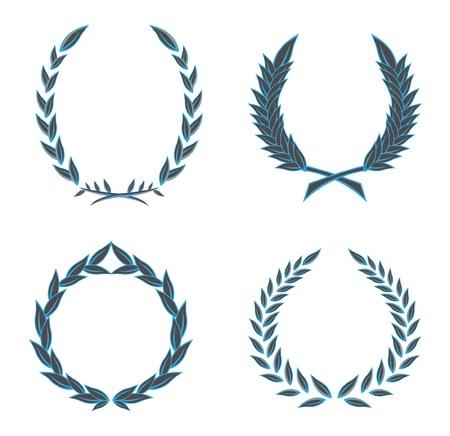 escudo de armas: coronas de flores