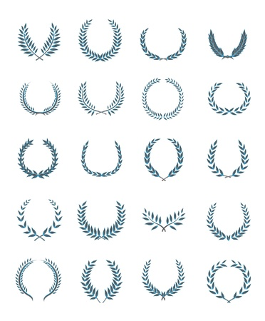 20 wreaths vector set Stock Vector - 12732076