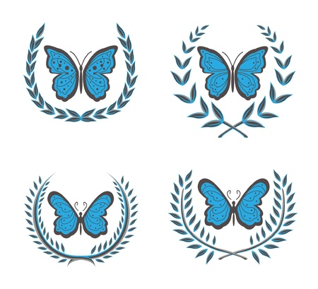 wreaths   butterfly Stock Vector - 12888529