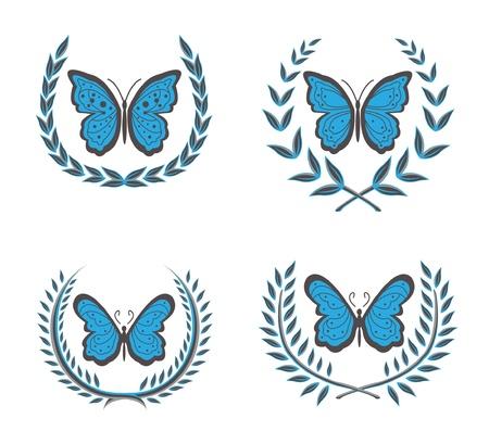 wreaths   butterfly Stock Vector - 12888529