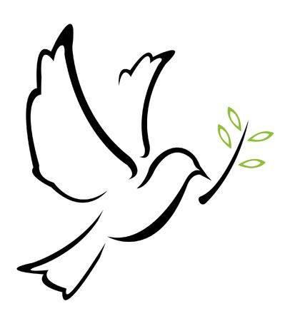 geloof hoop liefde: Dove Vrede Illustratie Stock Illustratie