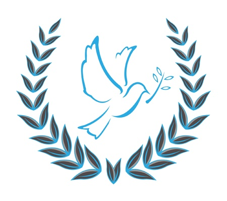 Dove Wreaths Stock Vector - 12888614