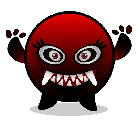 red monster virus Vector