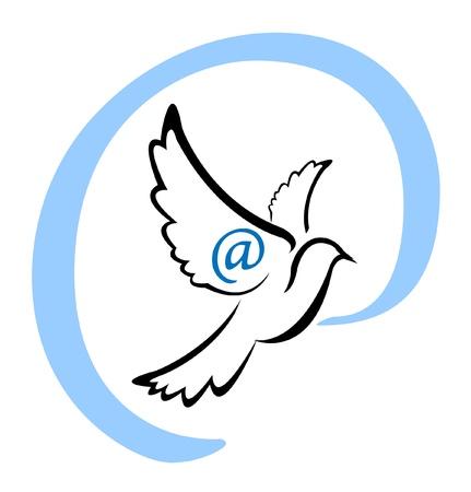 transporteur: Symbole Email Dove