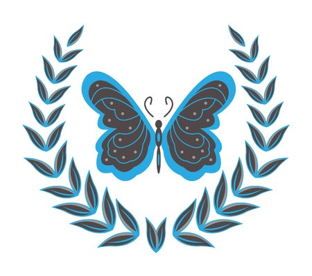 wreaths   butterfly Stock Vector - 12888613