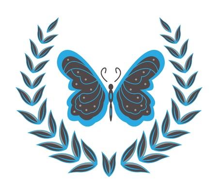 wreaths   butterfly Vector