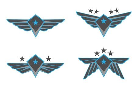 artificial wing: Ali Illustrazione Vettoriale