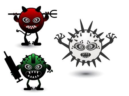 set monster virus Stock Vector - 13171876