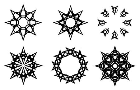 star and flame: Tatoo  Illustration