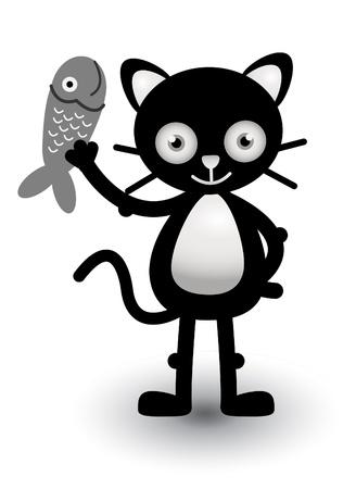 Cat happy Stock Vector - 13688761