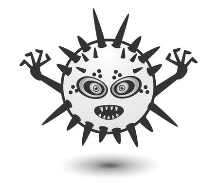 White Monster Vector