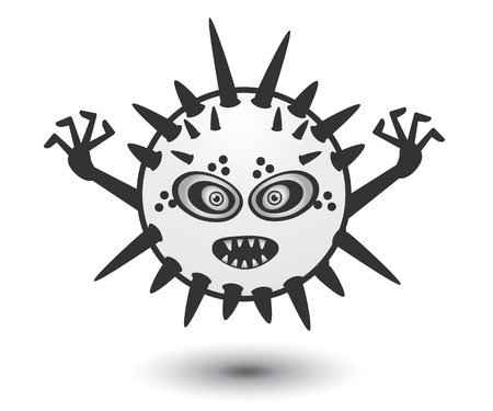 White Monster Stock Vector - 13688817