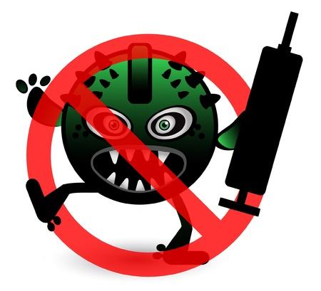 Stop Virus Stock Vector - 13688635