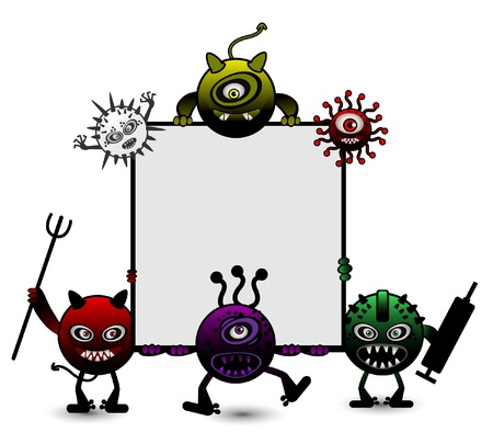 Virus Cartoon Vector