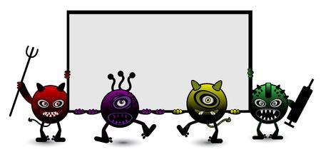 Halloween Monster Banner Stock Vector - 13689235