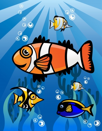 Fish Group Stock Vector - 13688861