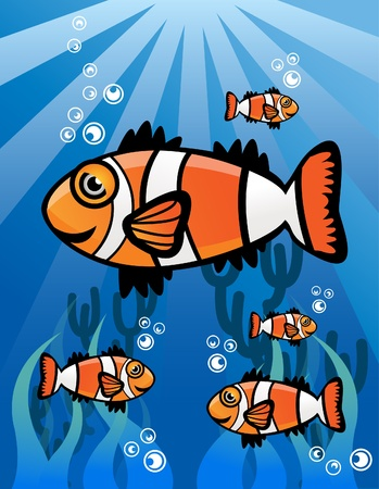 ClownFish Group Stock Vector - 13688865