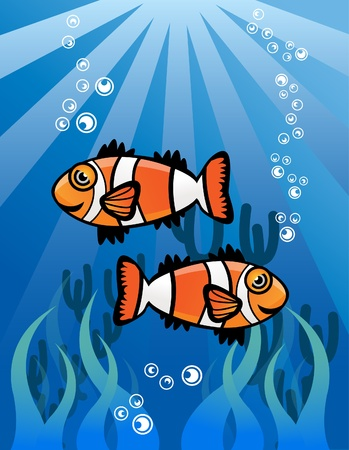 Couple ClowFish Vector