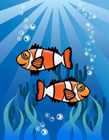 Couple ClowFish Stock Vector - 13688844