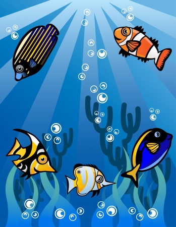 Underwater world Stock Vector - 13688878
