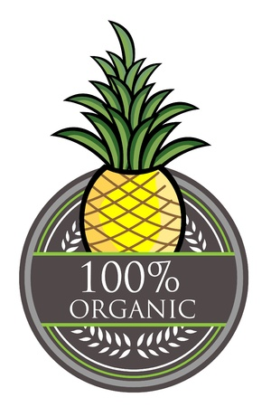 Pineapple Organic Label Vector