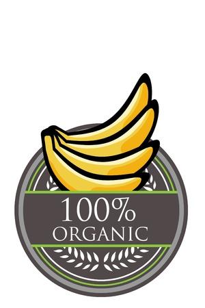 Banana Organic label Vector