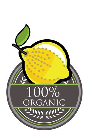 Lemon Organic label Vector