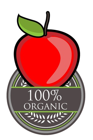 red apple: Red Apple Organic label