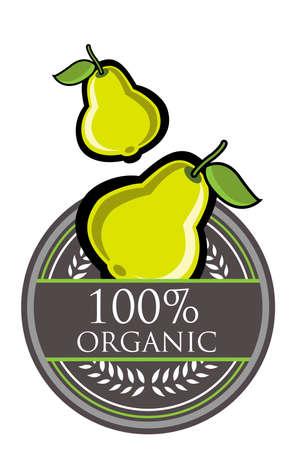 Guava Organic label Stock Vector - 13689435