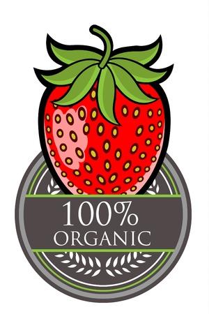 Strawberry Organic label