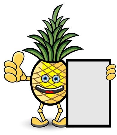 Pineapple Banner Vector