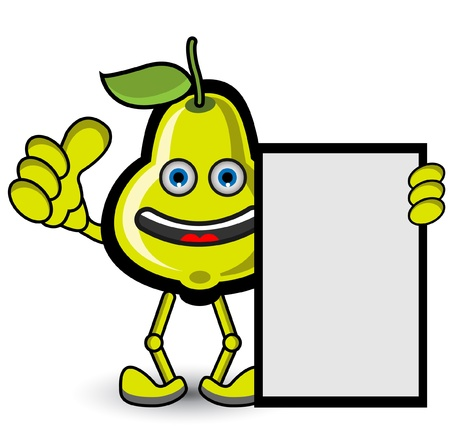 Guava Banner Thumb Up Pose Vector