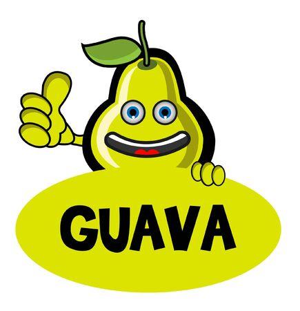 guayaba: Sonríe Banner Guayaba Vectores