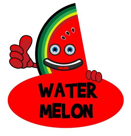 Smile Watermelon Banner Vector