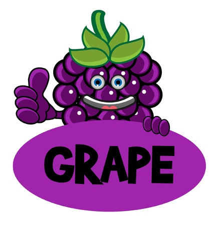 Smile Grape Banner Vector