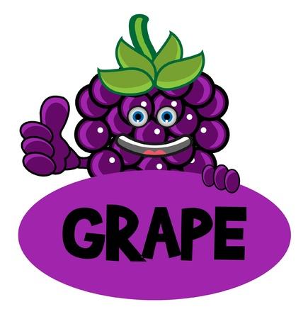 Smile Grape Banner Vector