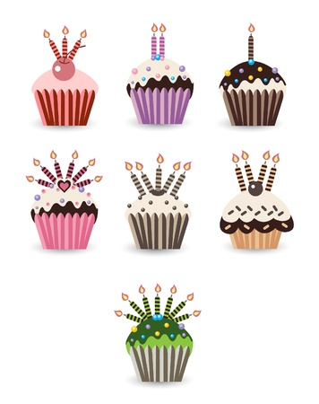 frosting: cupcake Set candle